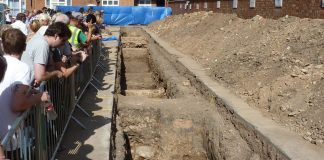 Leicester Greyfriars dig, trench 2 Image: CC BY-SA 3.0 RobinLeicester - Own work