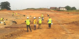 WA Archaeologists on the Emerson Green Village Development, Bristol. Image: Wardell Armstrong Archaeology