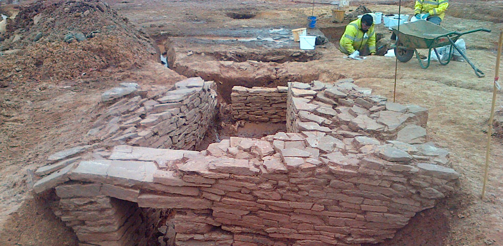 Subterranean Roman structure at the Emerson Green Village Development, Bristol. Image: Wardell Armstrong Archaeology