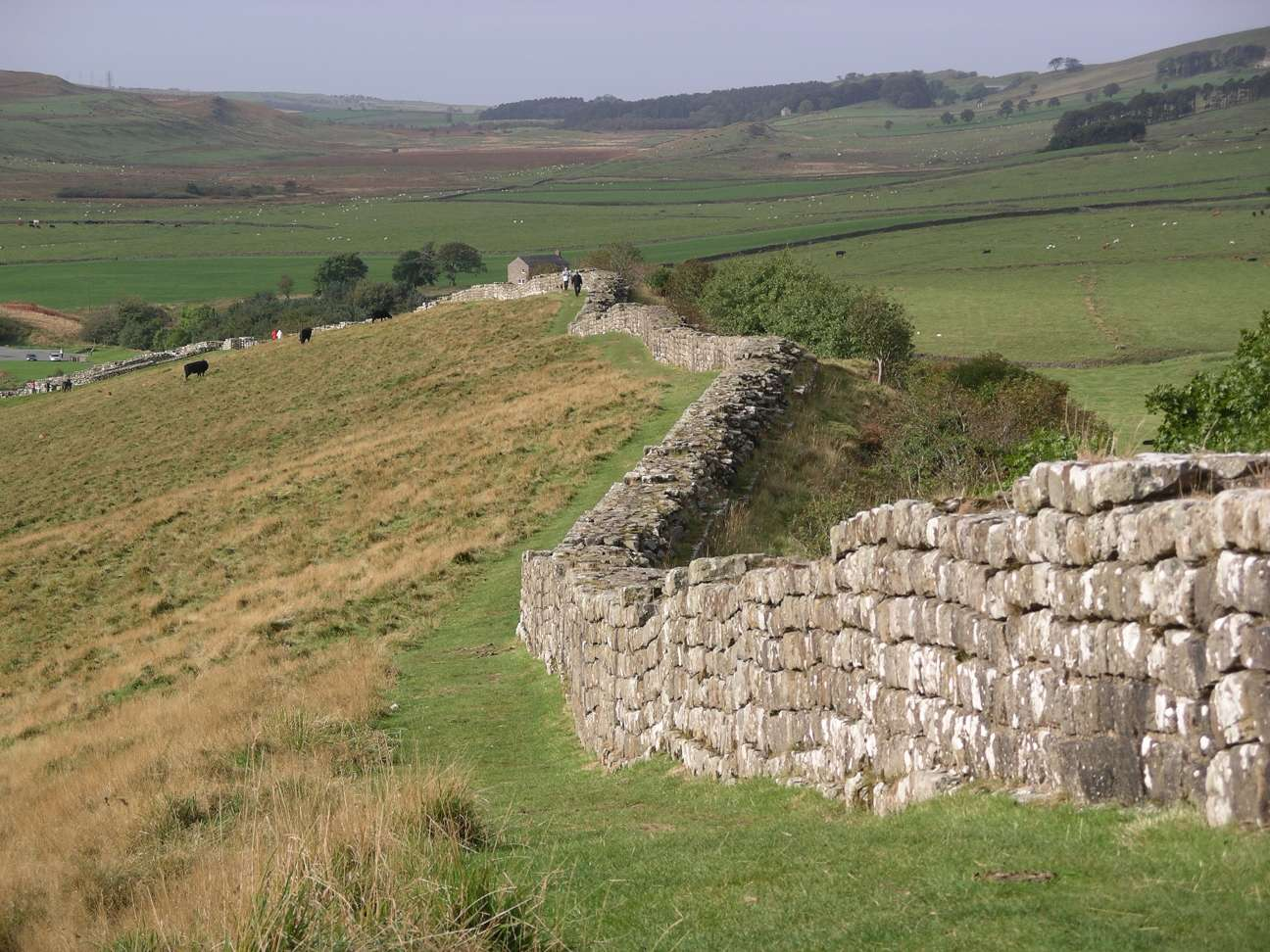 """Hadrian's wall at Greenhead Lough"" by Velella - Personal photograph taken by Velella.. Licensed under Public domain via Wikimedia Commons."