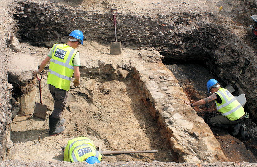 Trench 1, Newcastle's Quayside. Image: PCA North