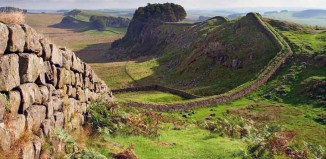 Houstead Crags, section of Hadrians Wall.