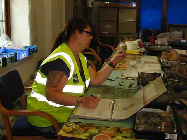 (Photograph taken by Rachel Walker-Higgins whilst Gill was a member of the Heeley Heritage Volunteers during excavations in 2011)