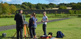 Training in topographic survey. Image: David Connolly