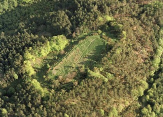 Aerial view of Craig Phadrig fort. SC1367558