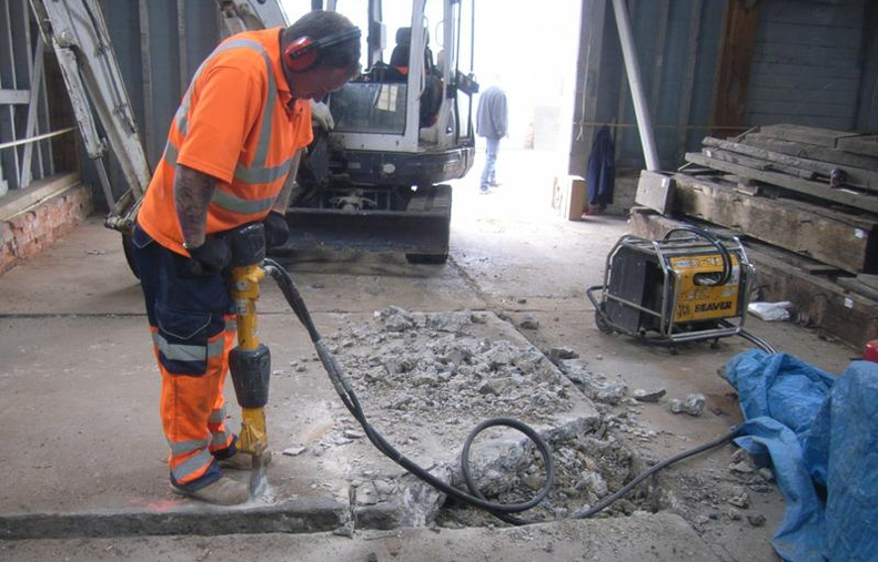 Opening trench at Chatham Dockyard. Image: Wessex Archaeology