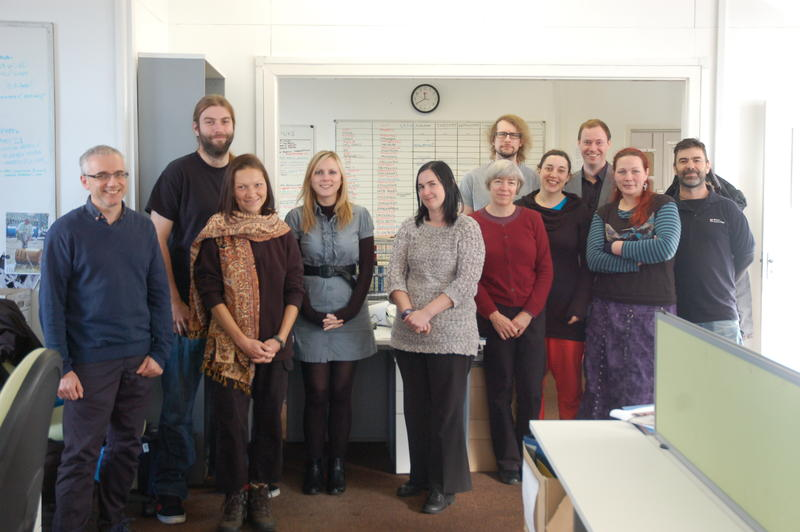 Some of the Wessex Archaeology (Sheffield) team.