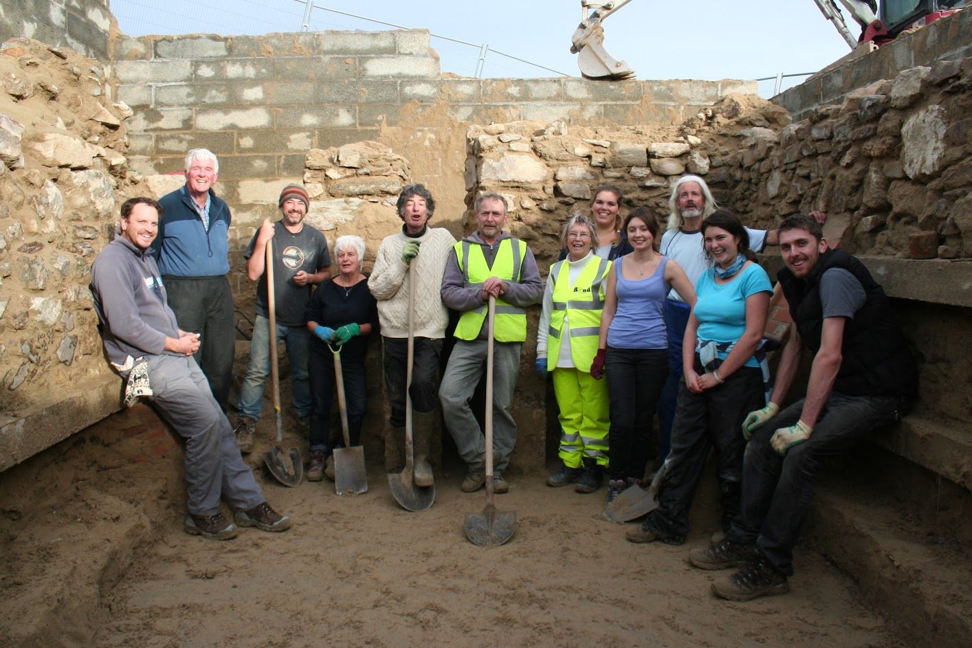 Team near completion. Image: Image: Cornwall Archaeological Unit
