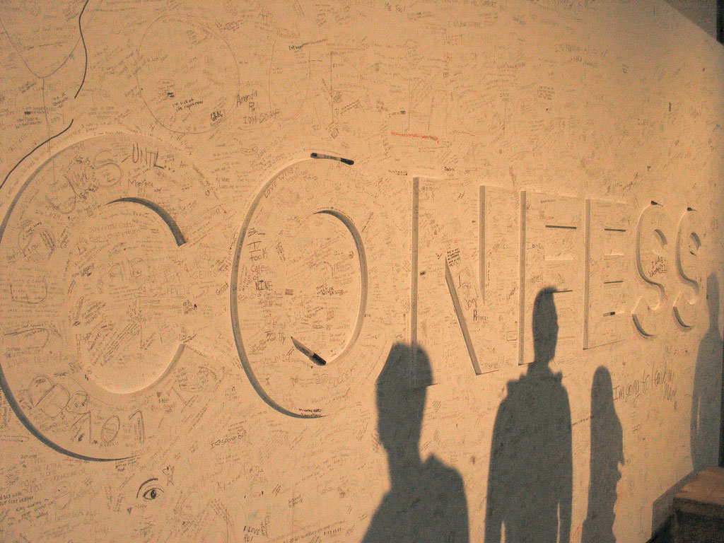 Confess. Image: Dagny Mol (Flickr, used under a CC BY 3.0)