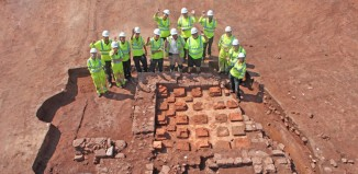 The remains of a Roman villa were unearthed. Image: Cotswold Archaeology