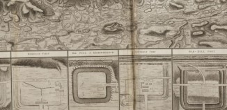 Plan shewing the course of the Roman wall called Grime's Dyke? - from NLS website