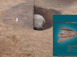 Excavated pit and ARO14 Cover © GUARD Archaeology Ltd