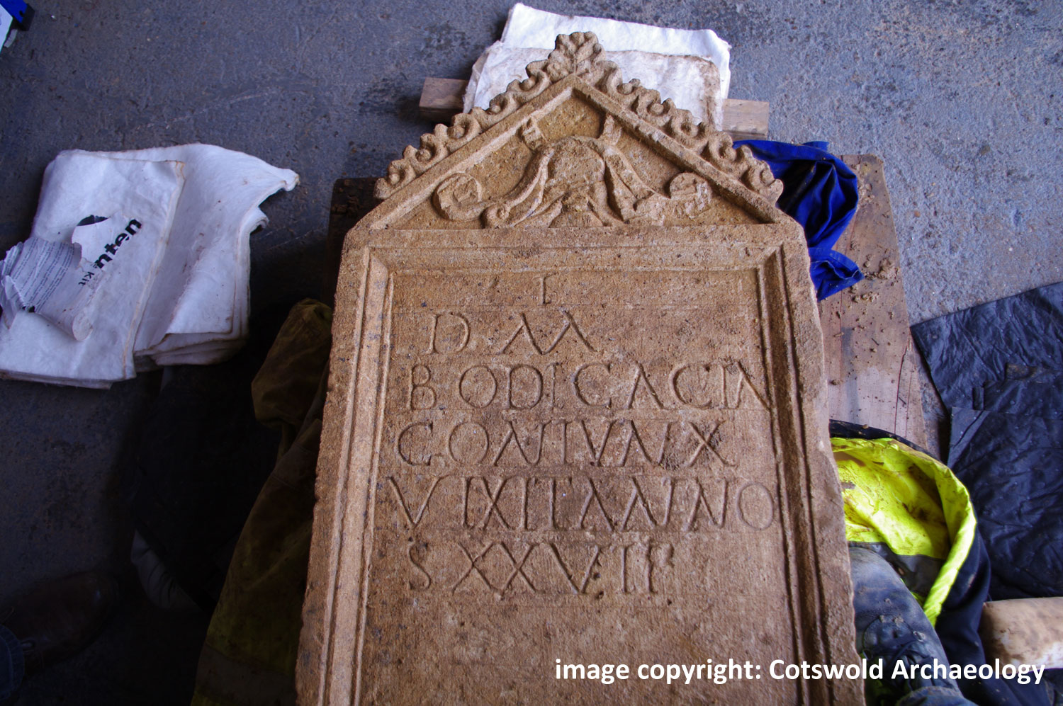 Cirencester Inscription. Image:  Copyright: Cotswold-Archaeology
