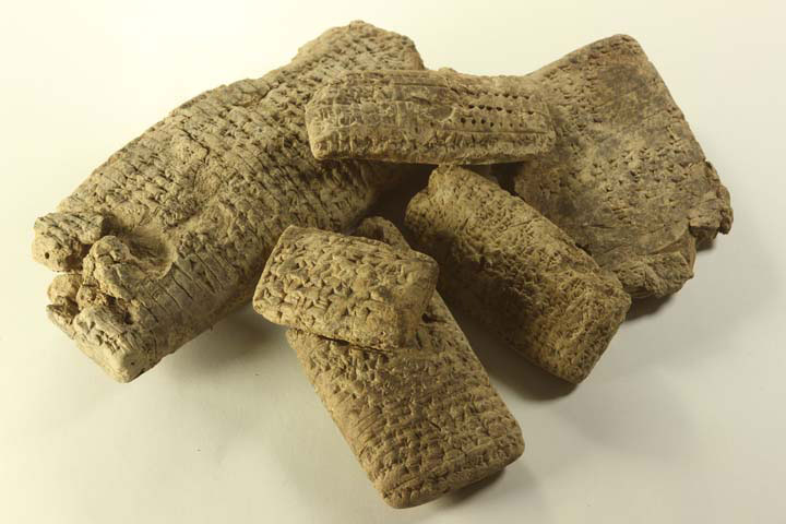 Some of the 50 new documents, written in Babylonian cuneiform
