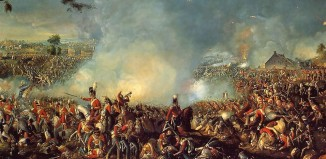 """""""Battle of Waterloo 1815"""" by William Sadler II - http://www.napoleon.org.pl/forum/download/file.php?id=2049&mode=view. Licensed under Public Domain via Wikimedia Commons - http://commons.wikimedia.org/wiki/File:Battle_of_Waterloo_1815.PNG#/media/File:Battle_of_Waterloo_1815.PNG"""