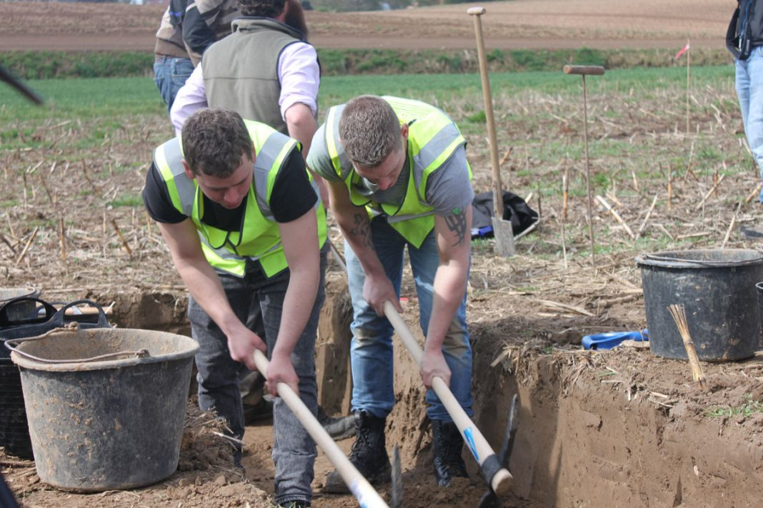 Coldstream Guards excavate