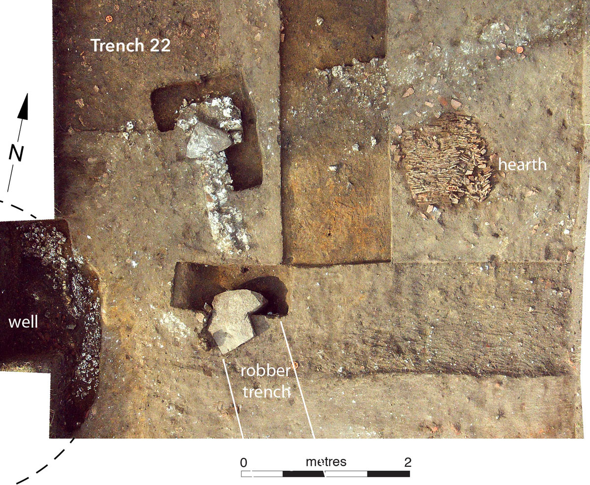 Woking Palace trench 22. Image: Surrey Council Archaeology Unit