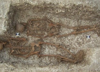 Two of the Roman Dorchester deviant burials. Image: Wessex Archaeology