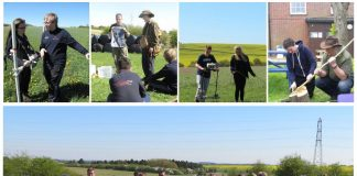 Getting invovled with teh Jon Egging Trust's (JET) Blue Skies Programme. Images: Wessex Archaeolgoy
