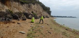 CITiZAN archaeologists assessing cliff erosion © CITiZAN