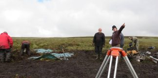 Work on the site in Upper Teesdale