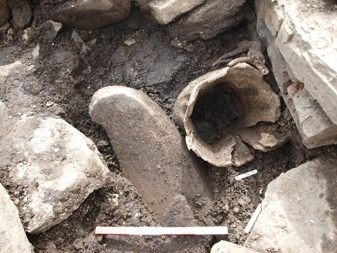 Whalebone vessel from above. Copyright: University of the Highlands and Islands Archaeology Institute.