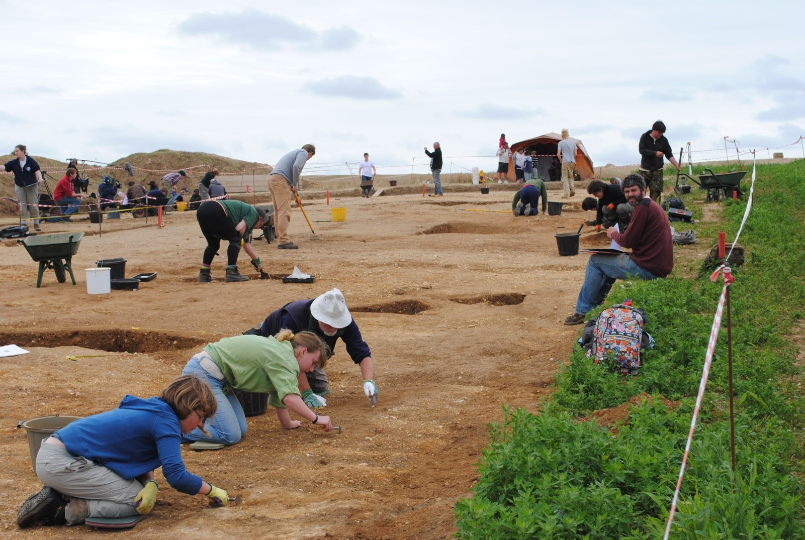 BERTs excavating a mid-late Anglo-Saxon structure. (Image: Philip Hill)