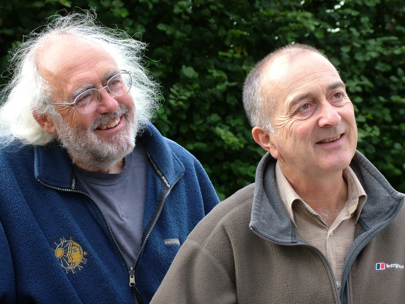 Mick Aston with Tony Robinson. Credit:Steve Shearn