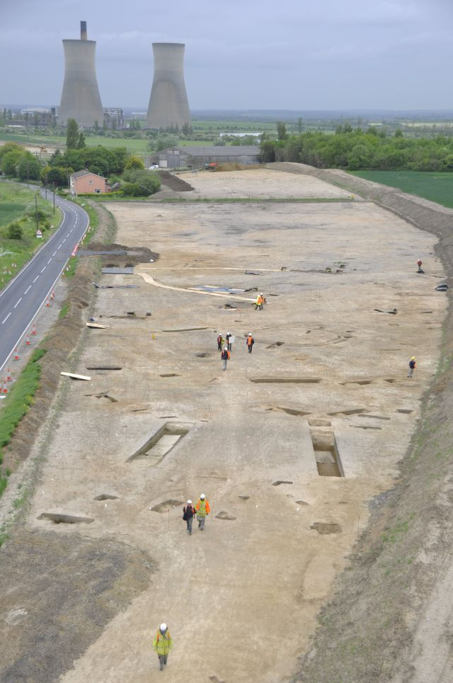 View of the ditched enclosure during excavation. (OWA)