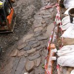 Cobbled surface unearthed in Castle Street Orkney. Photo: ORCA Archaeology