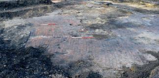 Brick floor of an ancillary structure