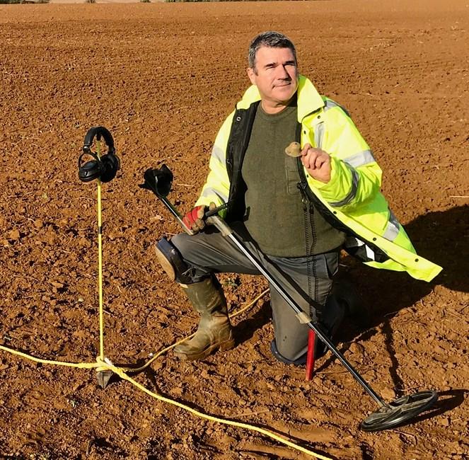 Metal detecting survey work © Keith Westcott