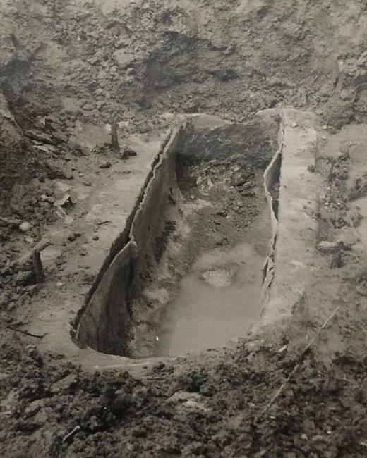 Lead lined, Romano British burial © Keith Westcott