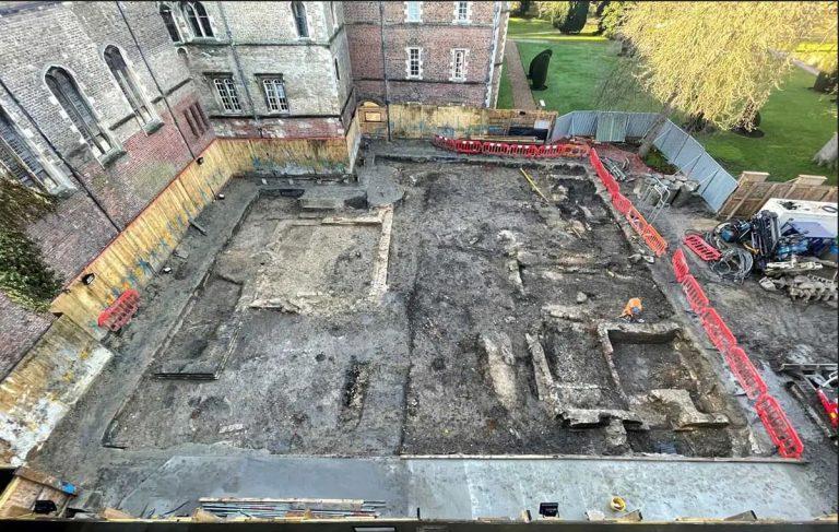 Excavation at Jesus College, Cambridge
