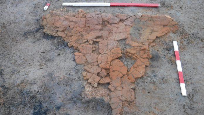 Base of a Roman oven