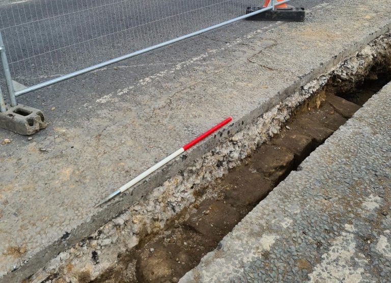 Part of Hadrian's Wall discovered beneath Newcastle road