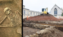 Mystery Civil War burial found in Oxford college