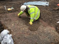 New Roman mosaic uncovered in Leicester